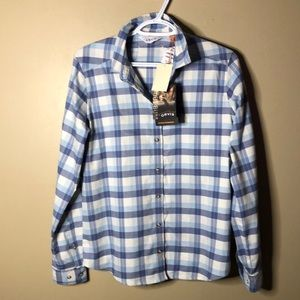 Orvis plaid button up western style